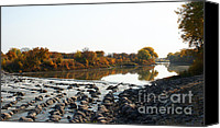 Steve Augustin Canvas Prints - Red River Fall of the Year Canvas Print by Steve Augustin