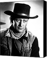 1948 Movies Canvas Prints - Red River, John Wayne, 1948 Canvas Print by Everett