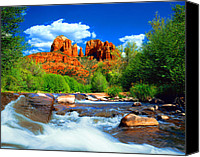 Southwest Canvas Prints - Red Rock Crossing Canvas Print by Frank Houck