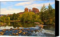 Sedona Canvas Prints - Red Rock Crossing Three Canvas Print by Paul Basile