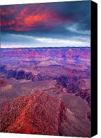 Red Canvas Prints - Red Rock Dusk Canvas Print by Mike  Dawson