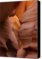 Red Rock Formations Canvas Prints - Red Rock Formations, Antelope Canyon Canvas Print by Philippe Widling