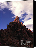 Red Rock Formations Canvas Prints - Red Rock Mountain Canvas Print by Cheryl Young