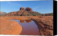 Sedona Canvas Prints - Red Rock Reflection Canvas Print by Gary Kaylor