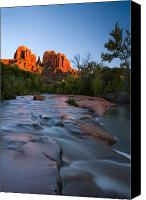 Sedona Canvas Prints - Red Rock Sunset Canvas Print by Mike  Dawson
