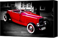 Custom Automobile Canvas Prints - Red Rod Canvas Print by Phil
