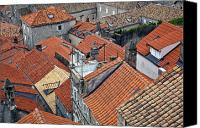 Dubrovnik Canvas Prints - Red Roofs of Dubrovnik Canvas Print by Madeline Ellis