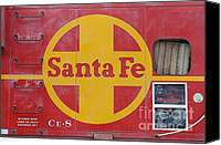 Old Caboose Canvas Prints - Red Sante Fe Caboose Train . 7D10333 Canvas Print by Wingsdomain Art and Photography