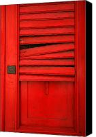Red Door Canvas Prints - Red Shutter Canvas Print by Timothy Johnson