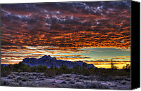 The Supes Canvas Prints - Red Skies Sunrise  Canvas Print by Saija  Lehtonen