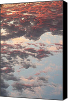 Day Lillies Photo Canvas Prints - Red Sky Ocean Canvas Print by Russ Bertlow