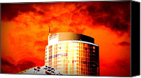 Angry Sky Canvas Prints - Red Sky Vancouver Canvas Print by Randall Weidner