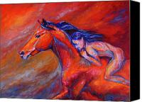 Williams Painting Canvas Prints - Red Spirit Canvas Print by Diane Williams
