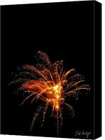 4th July Digital Art Canvas Prints - Red Splash Canvas Print by Phill  Doherty