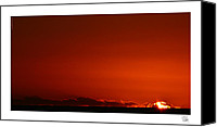 Dan Daulby Canvas Prints - Red Sunset Canvas Print by Dan Daulby