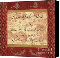 Love Canvas Prints - Red Traditional Fruit of the Spirit Canvas Print by Debbie DeWitt