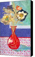 Diane Fine Canvas Prints - Red Vase I Canvas Print by Diane Fine
