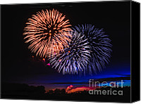 July Canvas Prints - Red White and Blue Canvas Print by Robert Bales