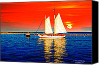 Providence Canvas Prints - Red white blue cape cod will do Canvas Print by Randall Branham