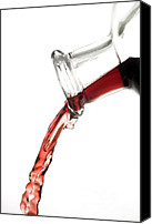 Spilled Wine Canvas Prints - Red wine Canvas Print by Frank Tschakert