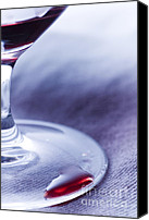 Spilled Wine Canvas Prints - Red wine glass Canvas Print by Frank Tschakert