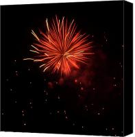 4th July Canvas Prints - Redburst 2 Canvas Print by Vijay Sharon Govender
