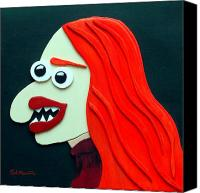 Funism Canvas Prints - Redhead Canvas Print by Sal Marino