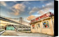 Bay Bridge Canvas Prints - Reds and the Bay Bridge Canvas Print by Scott Norris