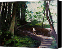 Emily Jones Canvas Prints - Redwood Forest Study Canvas Print by Emily Jones