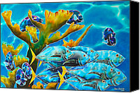 Daniel Jean-baptiste Canvas Prints - Reef Fish Canvas Print by Daniel Jean-Baptiste