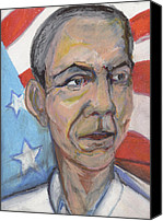 Obama 2012 In Art Canvas Prints - Reelecting Obama in 2012 Canvas Print by Derrick Hayes