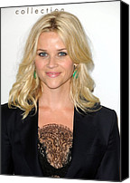 Wavy Hair Canvas Prints - Reese Witherspoon At Arrivals For Elles Canvas Print by Everett
