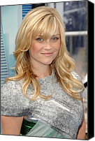 Wavy Hair Canvas Prints - Reese Witherspoon Wearing A Rodarte Canvas Print by Everett