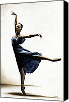Ballet Art Canvas Prints - Refined Grace Canvas Print by Richard Young