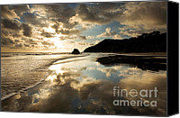 Tropical Sunset Canvas Prints - Reflected Costa Rica Sunset Canvas Print by Matt Tilghman