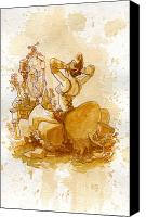 Steampunk Canvas Prints - Reflection Canvas Print by Brian Kesinger