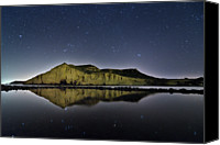 Star Canvas Prints - Reflection In Lake Canvas Print by Ser-y-star