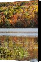 Susan Canvas Prints - Reflection Of Autumn Colors In A Lake Canvas Print by Susan Dykstra