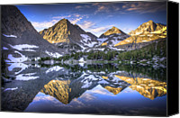 Mountain Scene Canvas Prints - Reflection Of Mountain In Lake Canvas Print by RMB Images / Photography by Robert Bowman
