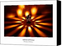 Oil Lamp Canvas Prints - Reflection of oil lamp Canvas Print by Bhushan Shikhare
