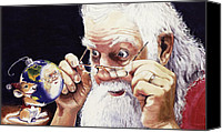 Santa Claus Canvas Prints - Reflections Canvas Print by Denny Bond