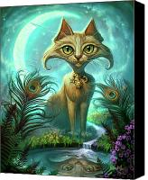 Feline  Canvas Prints - Reflections Canvas Print by Jeff Haynie