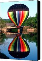 Hot Air Balloon Canvas Prints - Reflections of a Balloonist Canvas Print by Jim DeLillo