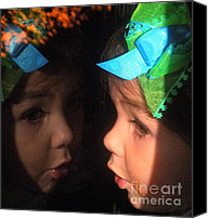Little Girls Canvas Prints - Reflections of Isabella Canvas Print by Karen Wiles