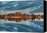 St Lawrence River Canvas Prints - Reflections of the Heart Canvas Print by Lori Deiter