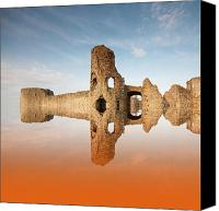 Old Stone Building Canvas Prints - Reflections of the past Canvas Print by Sharon Lisa Clarke