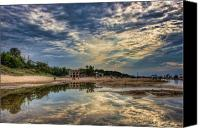 Indiana Dunes Canvas Prints - Reflections on the Beach Canvas Print by Scott Wood