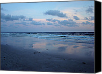 Panama City Beach Photo Canvas Prints - Reflections Canvas Print by Sandy Keeton
