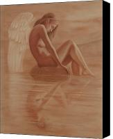 Young Pastels Canvas Prints - Reflexion Canvas Print by Leonardo Pereznieto