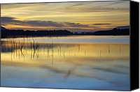 Lake Canvas Prints - Reflexions Canvas Print by Guido Montanes Castillo